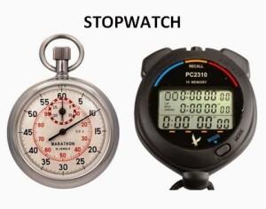 Stopwatch Digital dan Analog